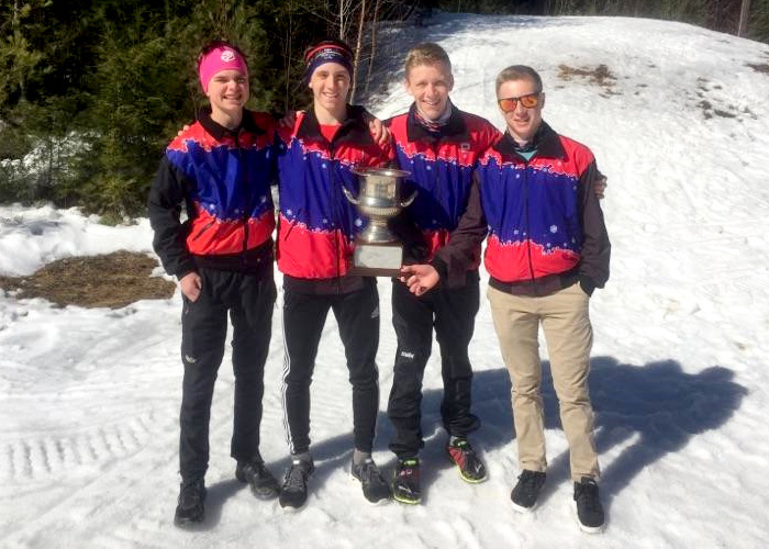 Josh Valentine, With His NH Teammates (right Hand Skier)