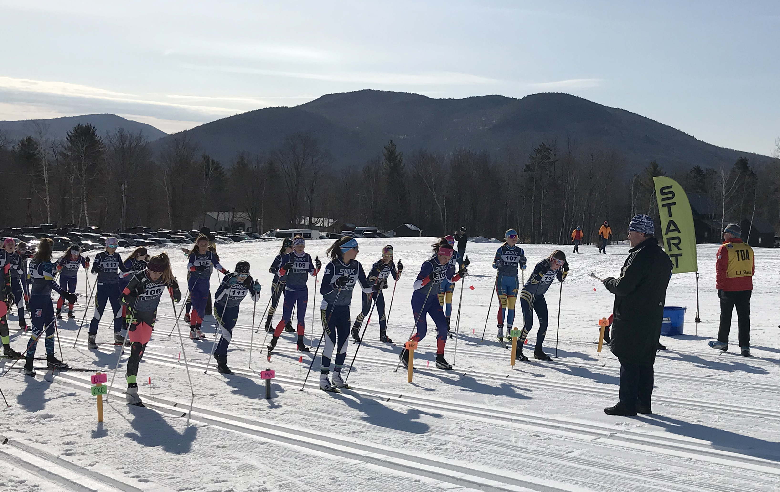 Start line from Sunday's relays